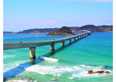 【ご近所さん歓迎】山口県下関市豊北町大字角島の角島大橋の中継