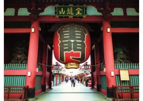 東京浅草の浅草寺の中継